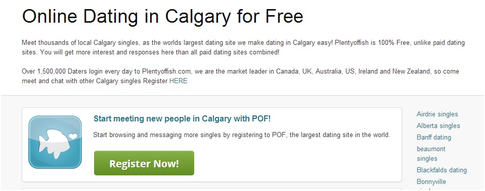 Steps for plenty of fish calgary login plentyoffish pof for Plenty of fish search without registering