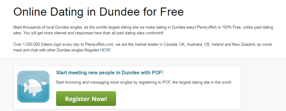 Plenty Of Fish Dundee Login