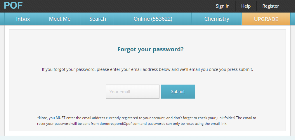 PlentyOfFish Manchester Login And Reset