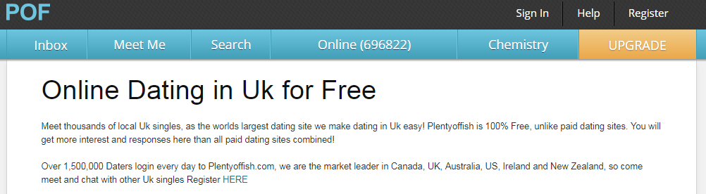 Plentyoffish UK Login And Reset