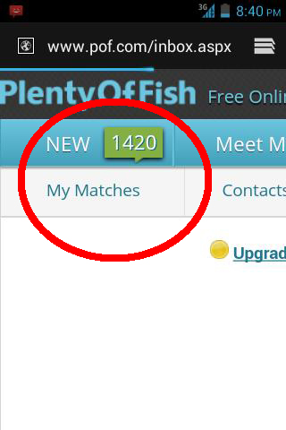 plenty of fish inbox