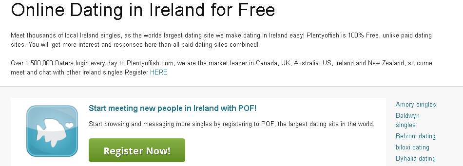 Plenty Of Fish Ireland Login