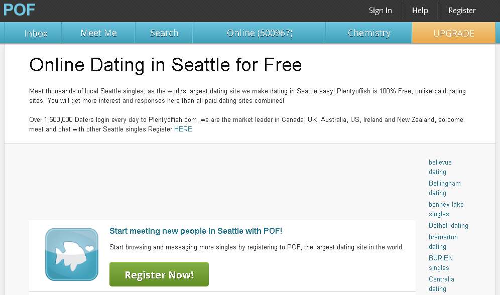 Plenty of fish seattle search plentyoffish pof logins for Plenty of fish search by city