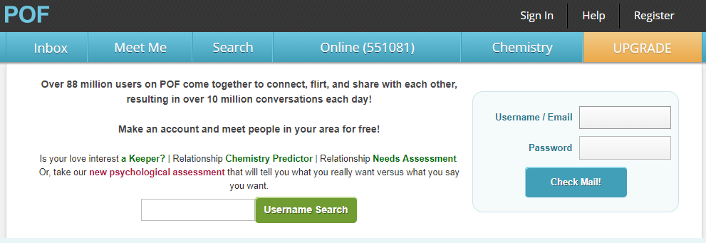 PlentyOfFish (POF) Aberdeen Login