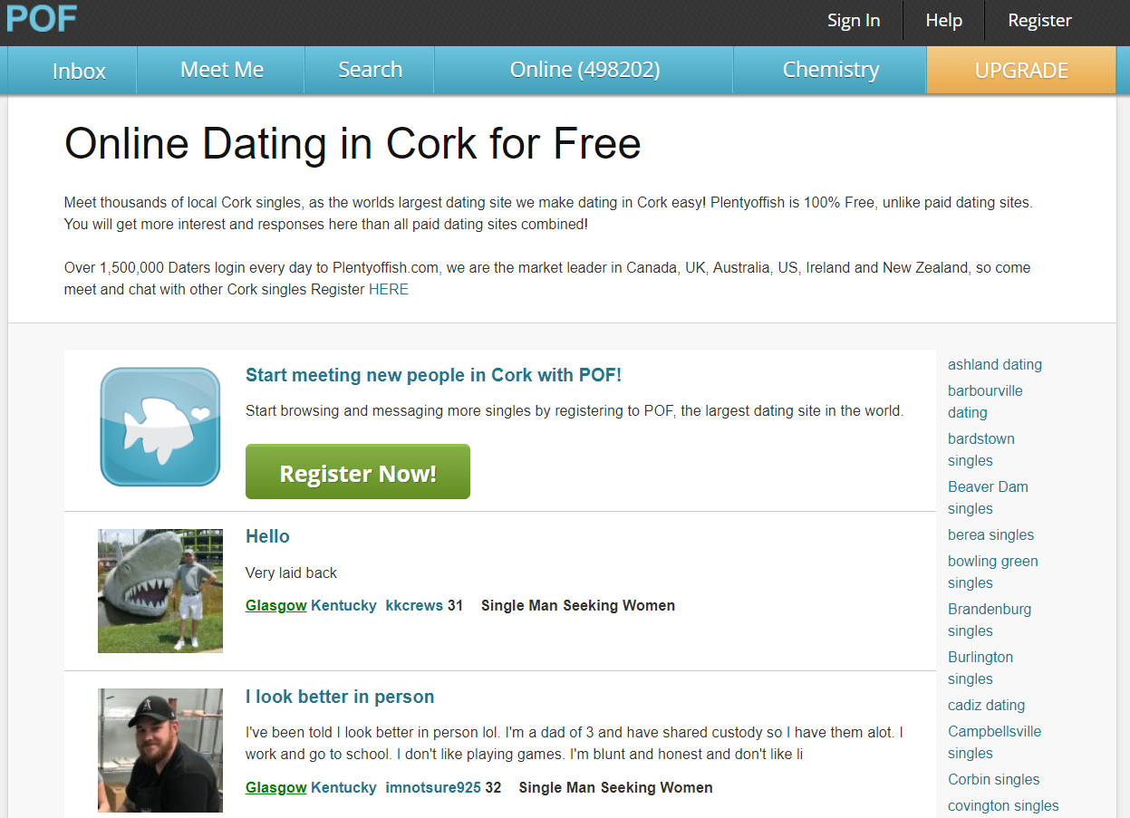 Dating Site in Cork - Send Messages for Free to Local Singles