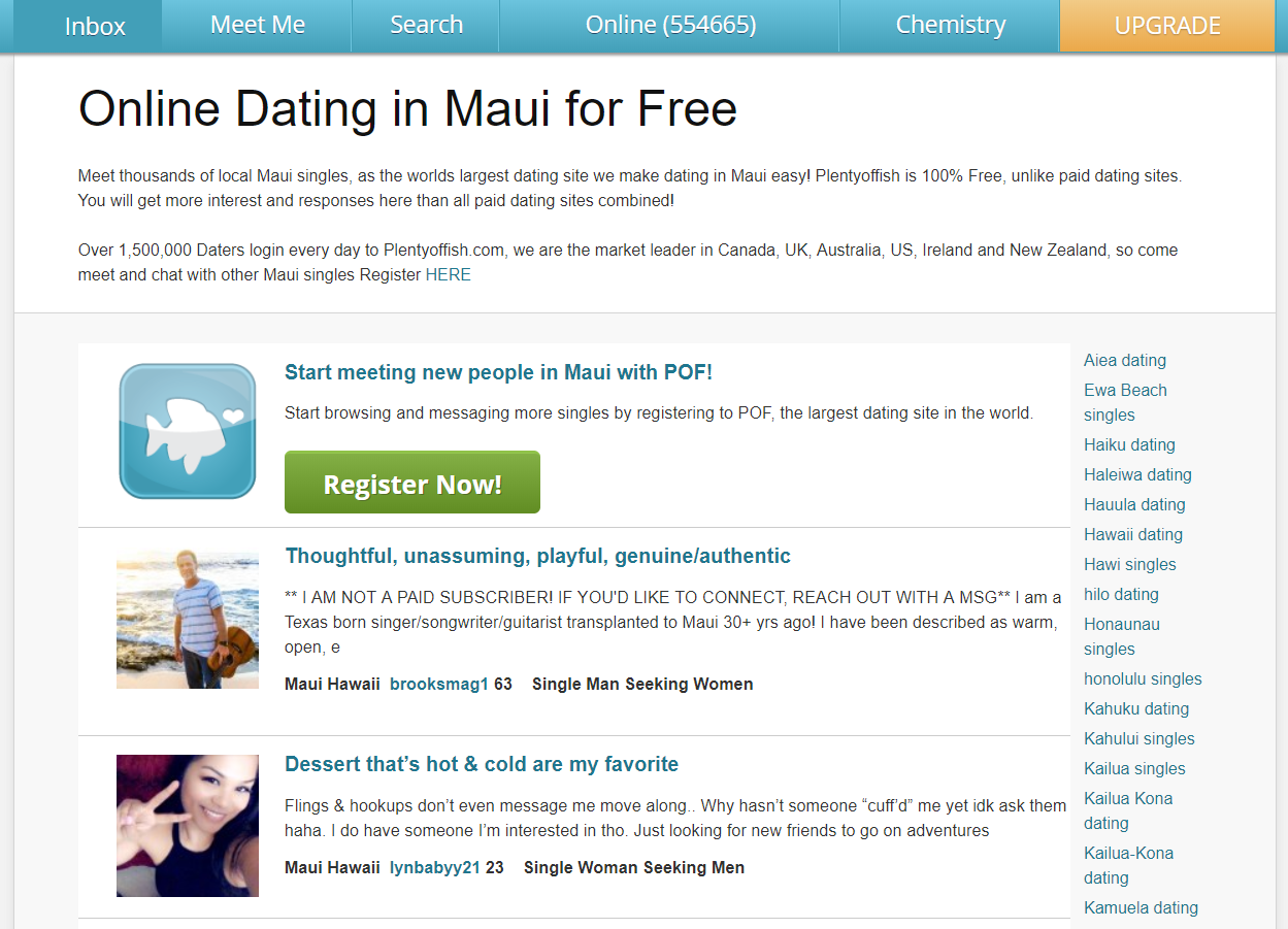 PlentyOfFish Maui