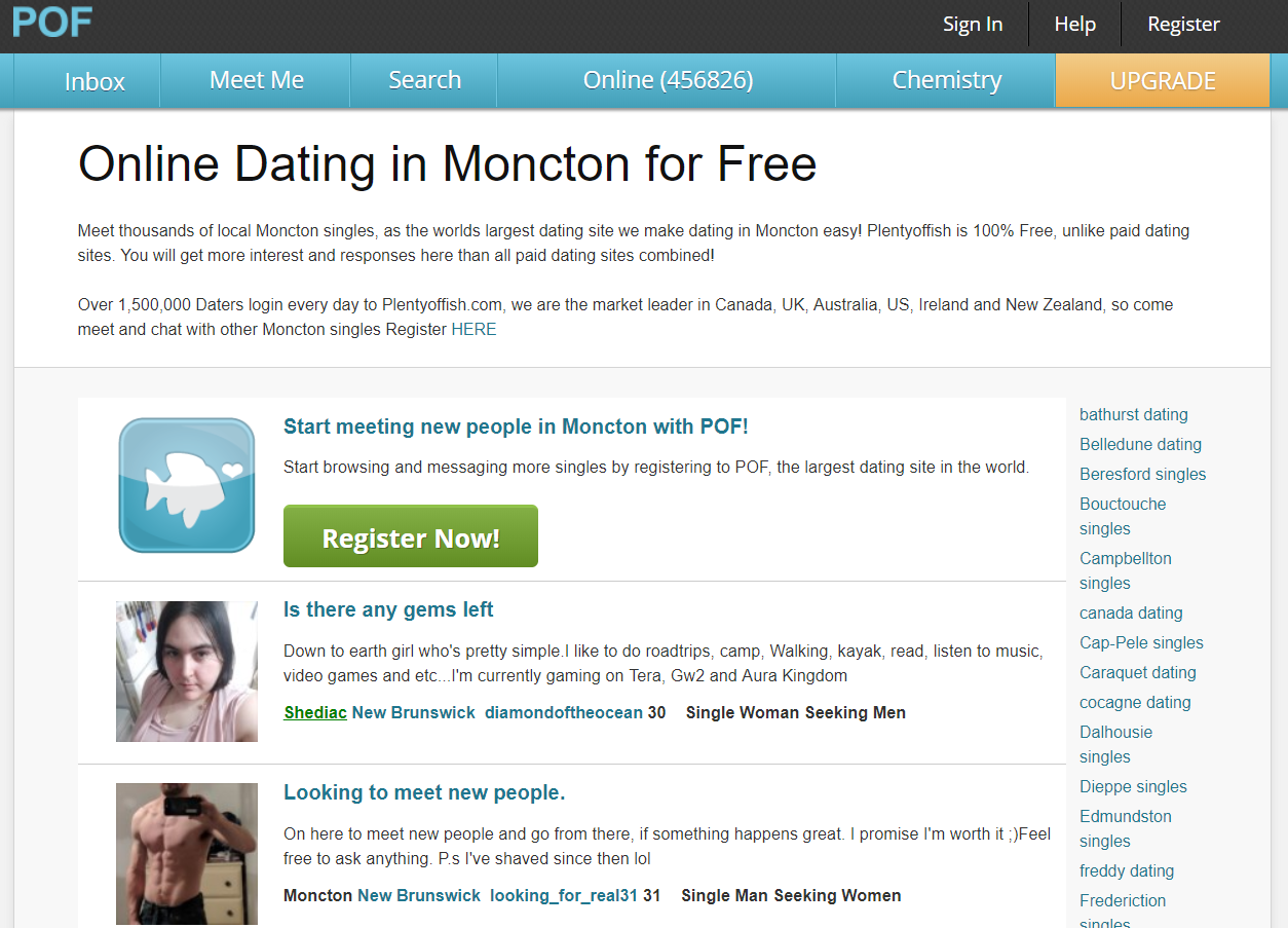 Plenty Of Fish Moncton Sign In Plentyoffish Pof Logins
