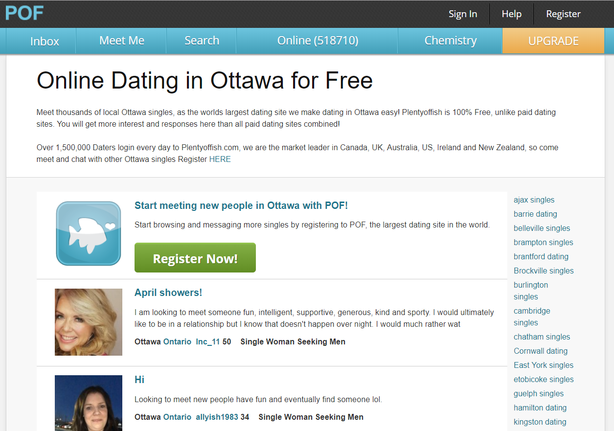 PlentyOfFish Ottawa