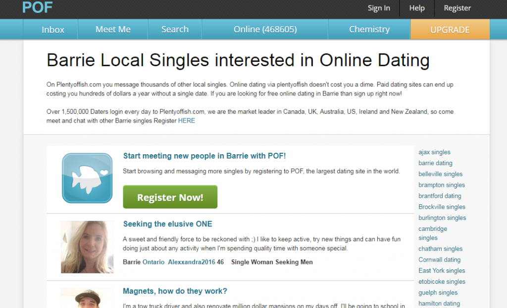 Plenty Of fish Barrie Login And Reset Archives