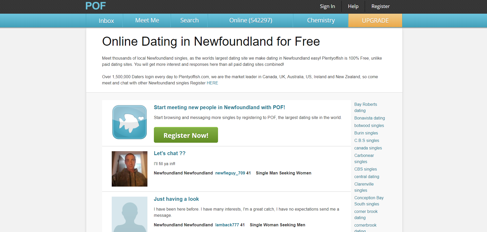 How To Find People From POF Newfoundland