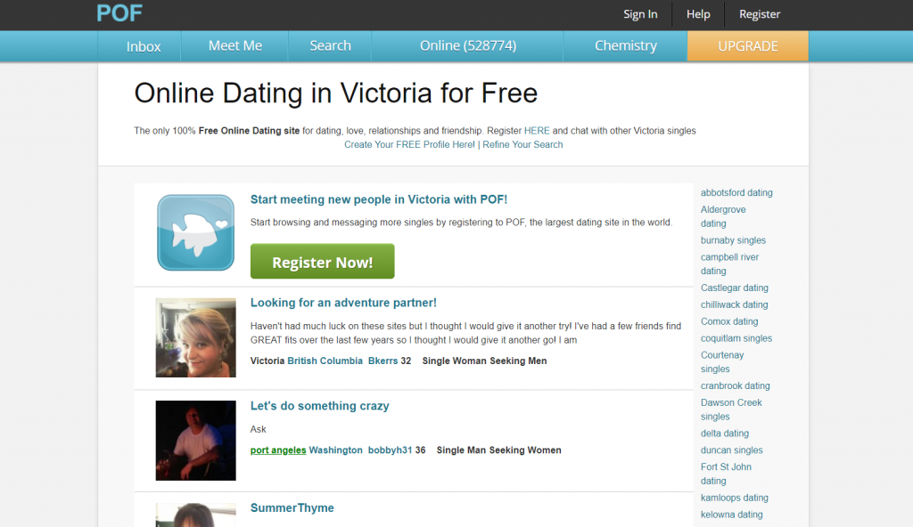 Plenty Of Fish Victoria Login And Reset