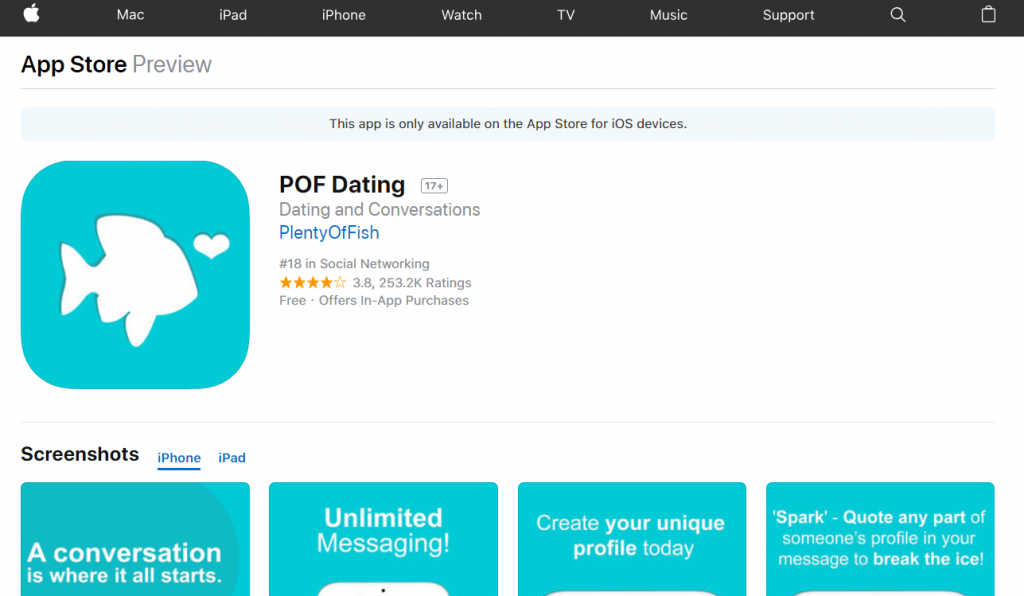 Pof mobile app for iphone