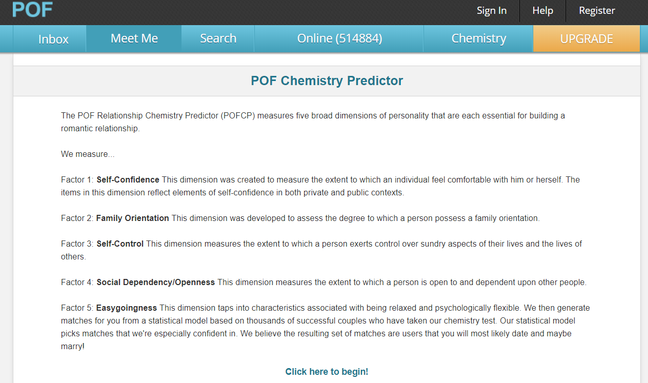 How To Take POF Relationship Chemistry Test